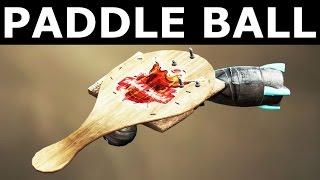 Fallout 4 Nuka World - Paddle Ball - All Modifications - New Rare Unique Weapon (Nuka Cade)