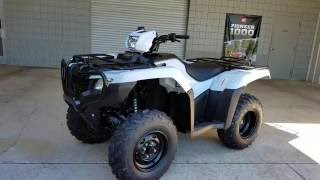 10. 2017 Honda Foreman 500 4x4 ATV (TRX500FM1H) Walk-Around Video | White | Review @ HondaProKevin.com