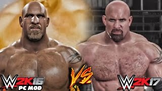 WWE 2K17 vs WWE 2K16 PC Mods - Goldberg Entrance Comparison!