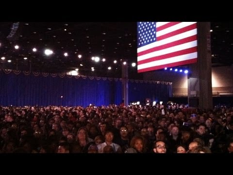 US Elections 2012: Obama supporters hopeful of victory at election rally in Chicago