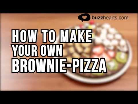 How to make a brownie pizza! - DIY