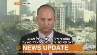 Naftali Bennett interviewed on Al Jazeera news