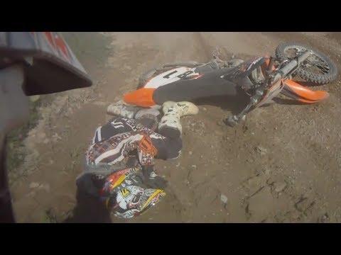 Broken wrist motocross crash
