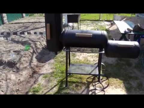 Мангал гриль коптильня из газового баллона своими руками чертежи фото