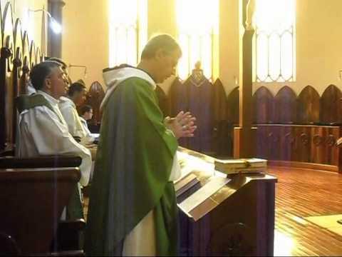 Missa final Retiro Espiritual no Mosteiro Cisterciense de Claraval pregado Dom Abade Paulo O. Cist.
