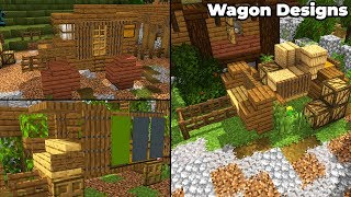 8 Minecraft 1.14 Medieval Cart & Wagon Designs