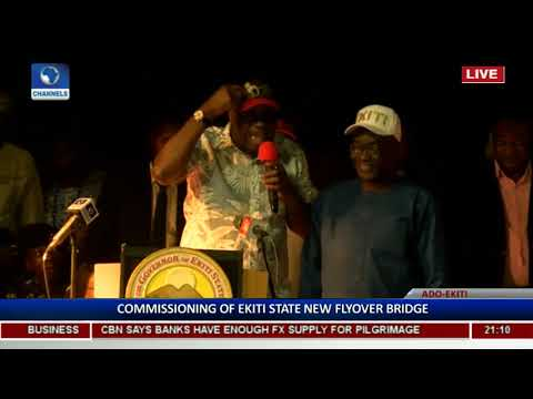 Ekiti Flyover: Fayose Lists Achievements As He Commissions Project