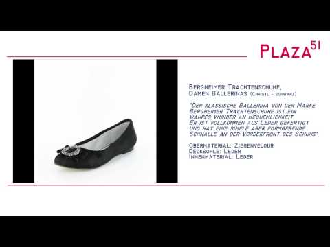 Neuvorstellung: Bergheimer Trachtenschuhe, Damen Trachten Ballerinas Christl - schwarz