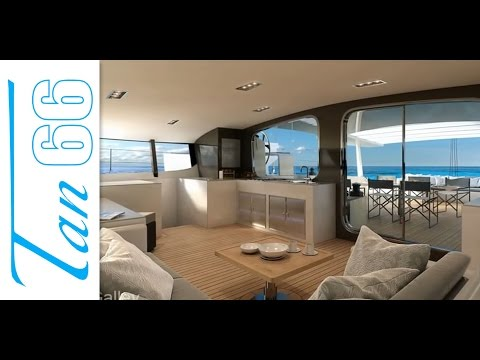 Luxury Catamaran in 3D – Tan 66