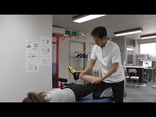 【施術動画】大腿直筋をゆるめる