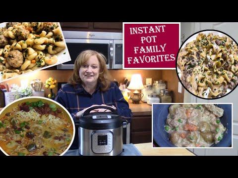INSTANT POT 4 FAMILY FAVORITE MEALS | Instant Pot Dinner Recipes