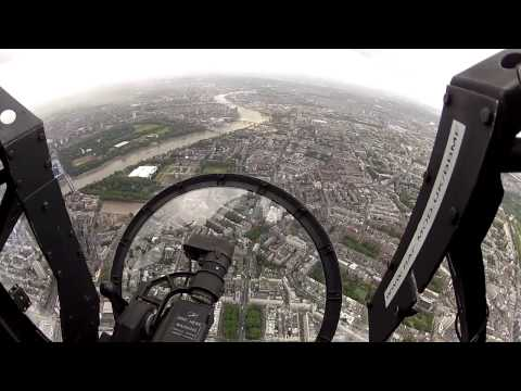 Footage from BBMF Lancaster during HM Queen's Birthday Flypast: 2