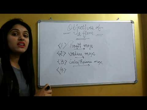 FIRM | MEANING OF FIRM | OBJECTIVES OF FIRM | GOALS OF FIRM | MANAGERIAL ECONOMICS FIRM