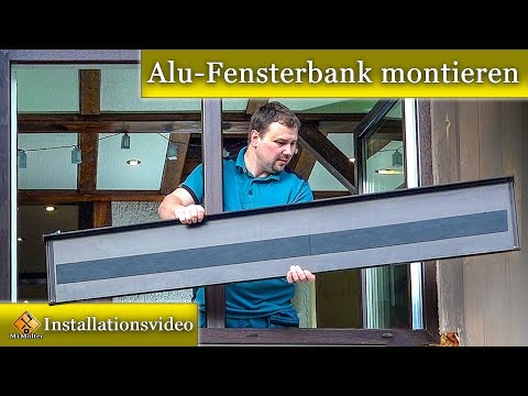Alu-Fensterbank montieren / Fensterbank Blech einbauen - so geht's