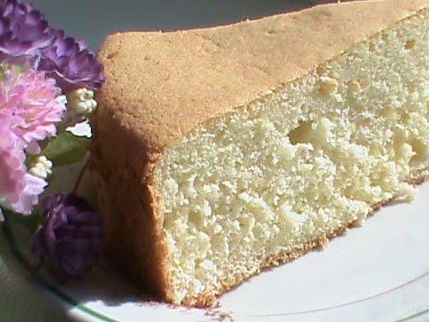 ванильный шифоновый бисквит рецепт с фото