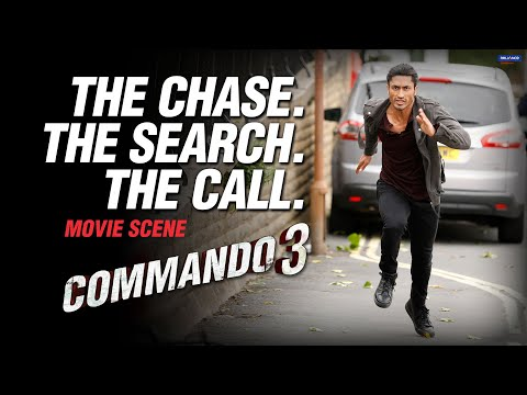 The Chase. The Search. The Call. | Commando 3 | Movie Scene | Vidyut J, Adah S, Angira D, Gulshan D