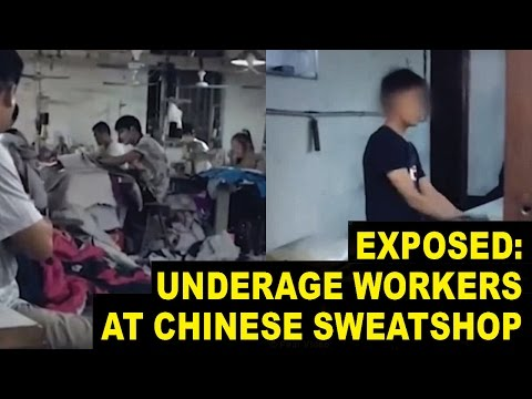 Inside Look at Sweatshop in China Where Children Work 20 Hour Days