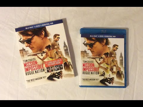 Mission Impossible Rogue Nation (2015) Blu Ray Review and Unboxing