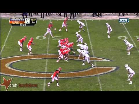 Danny Shelton vs Illinois 2013 video.