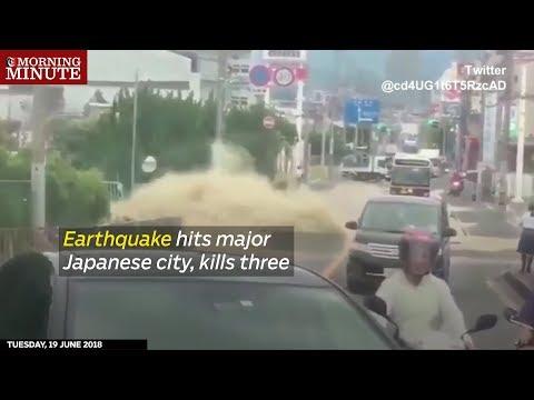 Earthquake hits major Japanese city, kills three