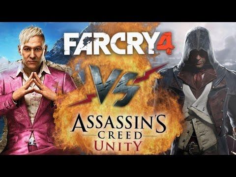 Рэп Баттл - Far Cry 4 vs. Assassin's Creed: Unity (видео)