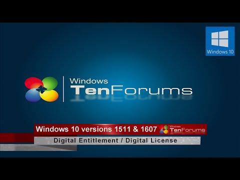 Windows 10 Digital Activation: Version 1511 & 1607