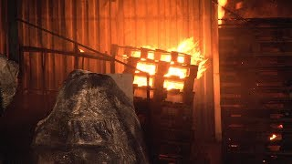 Тушение пожара на складах