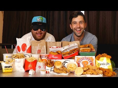 CHICKEN TENDER + BLINDFOLD FASTFOOD CHALLENGE! (GUESS THE RESTAURANT)