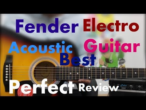 Fender SA-105ce Electro Acoustic – Perfect/Best Guitar 4 Everyone At Rs. 9299 – Hindi Review Guitars