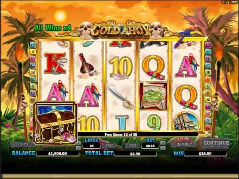 Gold Ahoy Slots 30 Free Spins at 4x Multiplier