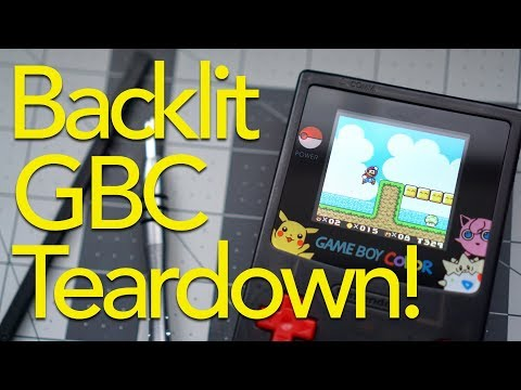 Tearing Down the Backlit Taobao Game Boy Color!