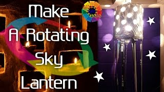 Welcome Easy Life Ideas Video URL: https://youtu.be/evczytjAXlwMake A Rotating Sky Lantern At Home For Diwali.Preparation :1. Bulbs2. Bulbs Holders3. Gear Moter (3 v-12 v)4. Mobile Charger5. Solder Iron6. Solder Paste & Wire7. Washer8. Wire Cutter 9. Tester10. Plastic Strip11. Wire12. Table Plastic Roll13. Tape14. Scissor15. Paint Plastic Empty Container (4 Lt.)16. Iron Wire (Thick)17. Iron Wire (Thin)The Great Indian Channel Which Serves You The Best To Make Your Day To Day Life Easier And More Comfortable. It Is The Need Of Such A Busy Life.This Channel Promise To Its Viewers To Promote It's Innovation At You ! Thanks For Watching My Videos & Please LIKE & SUBSCRIBE My Channel For More 'IDEAS'About EASY LIFE IDEAS Channel:This channel is all about How To, Home Made, DIY, Great Ideas, simple, funny and entertainment for Viewers…WARNING: My videos are provided only for entertainment and watching purposes only. Please don't try to do what I did in my videos. No one is liable for any loss or damage caused by your reliance on information contained in my videos. Entertain yourself but always be safe, and everything you do is at YOUR OWN RISK!!!!