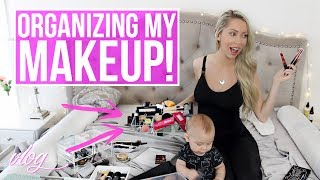 In this week's vlog I declutter and reorganize my makeup- Ryan and I also react to some cringey old footage of us! My blog post all about baby sleep secrets (MUST READ!) https://goo.gl/94LWB4 CLICK FOR LINKS AND INFO ☟ ☟ ☟ ♡ S O C I A L M E D I A ♡ Follow me for cute Carter photos! INSTAGRAM:  http://instagram.com/vasseurbeauty TWITTER:  https://twitter.com/vasseurbeauty♡ M Y  P R O D U C T S ♡ I have a line of premium, all-natural body care products safe for pregnant & breastfeeding women and babies! Buy my body care bundle - body lotion, body wash and body oil - and save 25%! Free shipping in USA, ships internationally. https://vasseurskincare.com/collections/body-care/products/vasseur-beauty-kit♡ I N F O ♡*I try to link what I can, if you have any other questions ask me in the comments!⇒ Carter's 6 Month update - the montage at the end is hands down my favorite thing I have ever posted on my channel:  https://www.youtube.com/watch?v=14UTB2AoZHI ⇒ Meal prep containers http://amzn.to/2soiUnr ⇒ Orgain protein bars- my new favorite bars!!! http://amzn.to/2tgOLGW ⇒ Baby food freezer trays with lid http://amzn.to/2uAYDzj ⇒ Baby food mashing bowl http://amzn.to/2tSm1DJ ⇒ Carter's black bear onesie http://amzn.to/2tgwUA0 ⇒ For detail on where all of my makeup organization containers are from watch this video (cheap makeup storage ideas) https://www.youtube.com/watch?v=bp4bhXLvSOs ⇒ Ardell fauxmink lashes  http://amzn.to/2ubKebB ⇒ Blog post on baby sleep – How I got Carter to sleep through the night and baby nap secret method! https://goo.gl/94LWB4 ⇒ ALL of my essential/top baby products & toys 0-6 months are listed in this blog post! ⇒ https://goo.gl/Y1G9mW  *Questions/Updates for you*I've narrowed it down to two options for my channel name so please cast your vote: Brittany Vasseur OR Vasseur Home? My HUGE 700k subscriber giveaway will be going up this Friday so look out for that!!!Thumbs up this video if you want to see more of our cringey lost footage haha! ♡ A B O U 