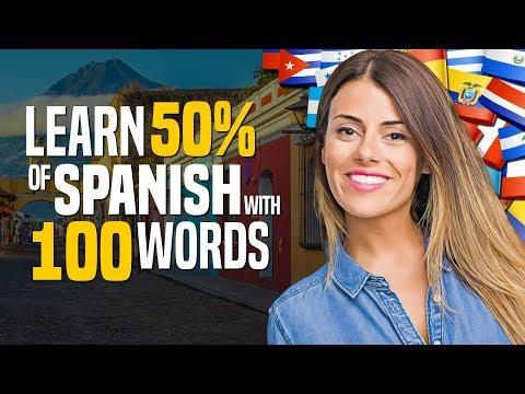 100 words = 50% of Spanish
