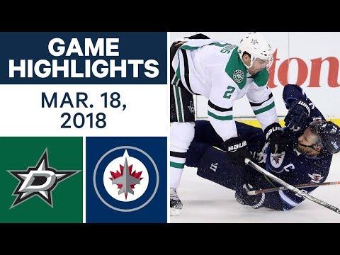 Video: NHL Game Highlights | Stars vs. Jets - Mar. 18, 2018