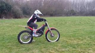 10. Leo's first go on his beta 80 trials bike 😃