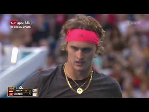 Hopman Cup Perth 2019 Finall Federer vs Zverev