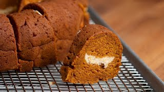 Pumpkin Bread Ring With Maple Cream Cheese Filling by Tasty