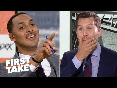 Video: Will Cain can't handle Ryan Hollins calling KD and Kyrie to the Nets 'overrated' | First Take