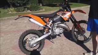 7. KTM 125 exc 2008 Review & Sound!