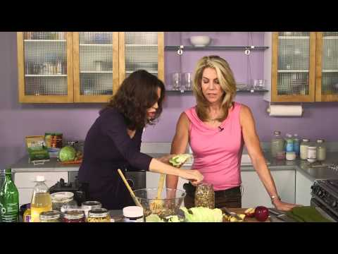 VEGETABLES - Buy Body Ecology Veggie Culture Starter: http://bodyecology.com/weight-loss-vegetable-culture-starter.html Donna Gates shows JJ Virgin how to make fermented ...