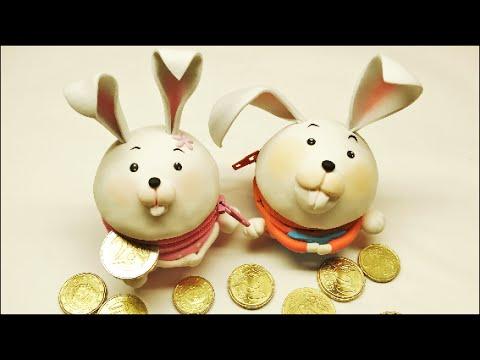come creare un grazioso coniglietto portamonete