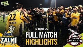 PSL 2019 Match 25: Lahore Qalandars vs Peshawar Zalmi | PEL Full Match Highlights