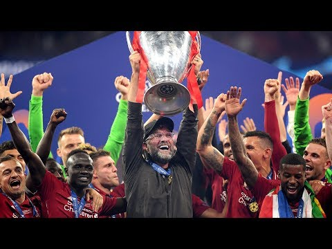 Jurgen Klopp and Liverpool players emotional as they lift Champions League trophy