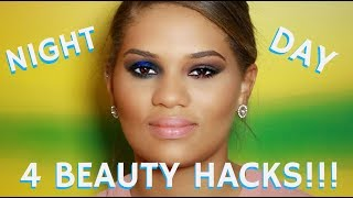 In this STEP BY STEP BEAUTY TUTORIAL I will demonstrate 4 Easy Makeup Hacks for taking your look from Day to Night using the some simple to follow pro makeup artist tips and tricks! This is Part 2 of a 2-part makeup vlog I have posted on my Youtube channel.PART 1 OF THIS 2-PART MAKEUP VLOG RIGHT HERE-* MAKEUP TUTORIAL FOR BEGINNERS  Flawless Foundation Smokey Eyes on Black Women WOC http://bit.ly/2l8YFJKRemember to click on the THUMBS UP TAB if you liked this video and leave me a comment down below!  SUBSCRIBE TO MY BEAUTY CHANNEL RIGHT HERE for weekly Beauty Demos, Product Reviews, Makeup Tutorials, and MORE! http://bit.ly/1pX0dBgLucky for you I am the only Pro Makeup Artist in Hollywood on YouTube that offers private makeup lessons as well! I teach one on one personal makeup lessons in L.A. at my studio or live over video conference from home. I've sat with dozens of women and helped them learn new tips and tricks specifically for their own face shape by streaming in real time!!! Please check out my vlog about how you and I can work together and send me a private email from my website here http://bit.ly/1I0Eww3Would YOU like to be updated on my newest Online Courses , Makeup Classes & Seminars? Sign up here http://bit.ly/2axZUOpCHECK OUT SOME OF MY OTHER AMAZING BEAUTY DEMOS HERE-* Dramatic Bridal Wedding Makeup Tutorialhttp://bit.ly/2uWzmft* Looking for a FULL GLAM Wedding Makeup Tutorial?!? I got you covered right herehttp://bit.ly/2uWzmft* How to Waterproof Creaseproof Your Eyeshadowhttp://bit.ly/2tp4ensFOLLOW ME on FACEBOOK every Wednesday at 5pm PST during my LIVE Q&A on my Fan Page http://www.facebook.com/mathias4makeupEXCLUSIVE PURCHASE LINKS TO THE ITEMS I RECOMMEND IN THIS STEP BY STEP TUTORIAL RIGHT HERE-JOUER CREAM EYESHADOW CRAYONS AT NORDSTROMShttp://go.magik.ly/ml/3ao3/URBAN DECAY ELECTRIC PRESSED PIGMENT EYESHADOW PALETTE http://amzn.to/2ujsfAVANASTASIA GLOW KITS Sephora http://go.magik.ly/ml/3am9/MAC MINERALIZE SKINFINISH   ULTA   http://go.magik.l