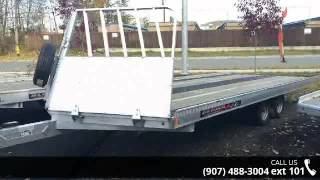 1. 2015 Aluma  22' All Aluminum Snowmachine Trailer Tandem A...