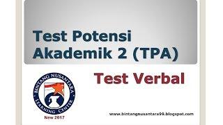 Video Test Potensi Akademik 2 (TPA) Test Verbal MP3, 3GP, MP4, WEBM, AVI, FLV Mei 2019