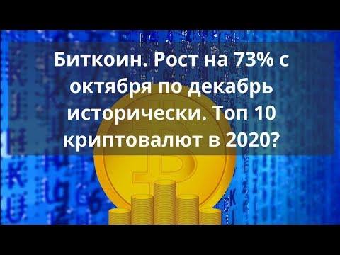 Биткоин. Рост на 73% с октября по декабрь исторически. Топ 10 криптовалют в 2020 Курс ВТС к доллару - DomaVideo.Ru