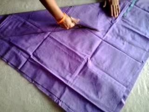 churidar - In this video you'll see churidar pajama cutting. in this video has been taught in a very simple manner. You'll learn easily.