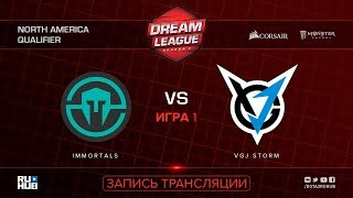 Immortals vs VGJ Storm, DreamLeague NA Qualifier, game 1 [Mila]